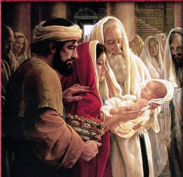 Resultado de imagem para Apresentação de jesus ao templo
